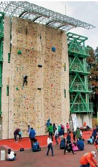 15mの壁のぼりに挑戦