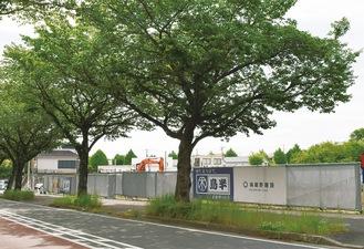 はだの桜みち沿いの95ビル建設予定地