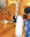 神殿で執り行われた奉告祭