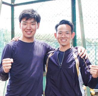 先輩後輩だが日頃から仲が良く、冗談を言い合う小玉さん(左)と一藤木さん