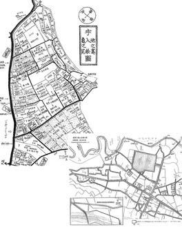 展示予定の明治時代の秦野町再現地図