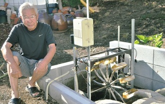 湧水の力でナノ発電