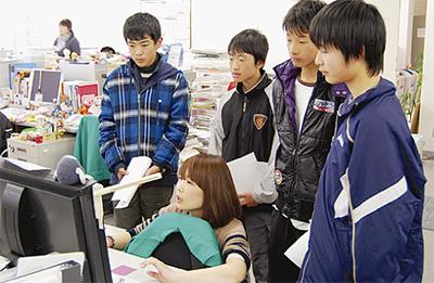 大根中の生徒が当社で職場体験