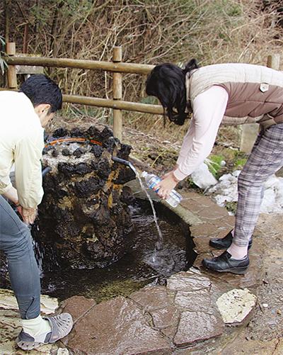 護摩屋敷の水 チップ制に