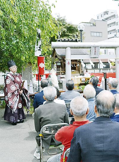 秋葉神社で例大祭