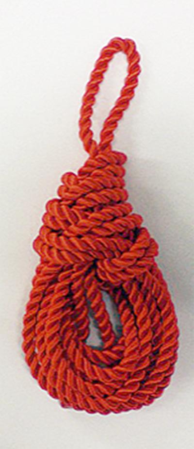 「えび結び」ブローチ作り