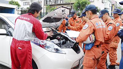 電気自動車の救助講習