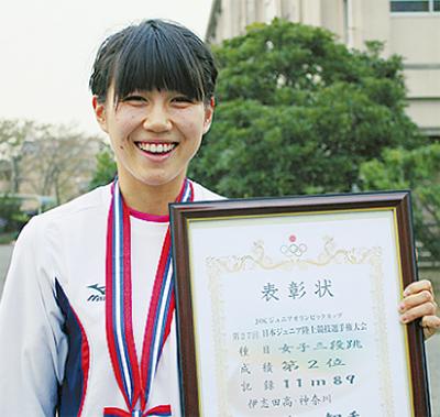 内海智香さんが全国準優勝