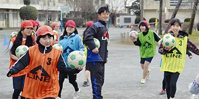 ベルマーレが体育指導