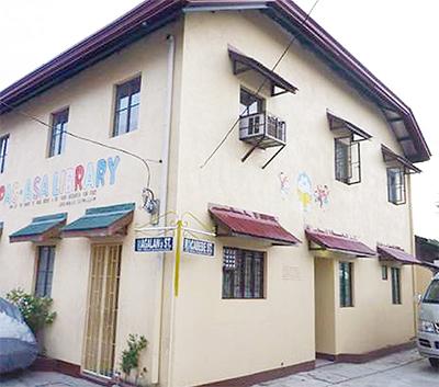 フィリピンの図書館を改築