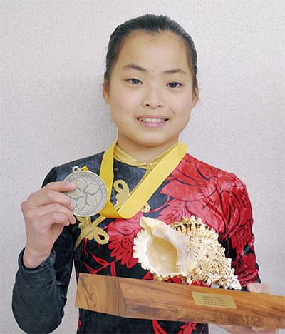 体操の国際大会で2位