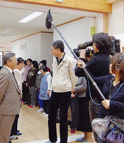 NHKが再配置計画を取材