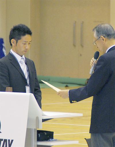 日本テニス協会から表彰