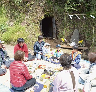 東田原で水神祭り