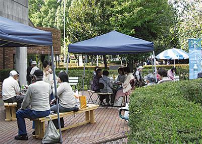 秋の喫茶コーナー
