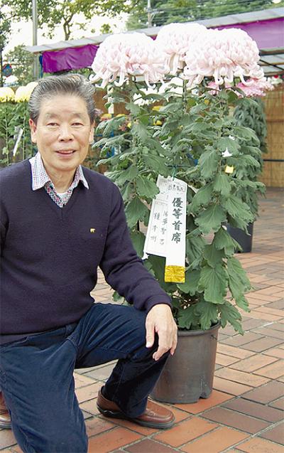 榎本明さんが菊花展でW受賞