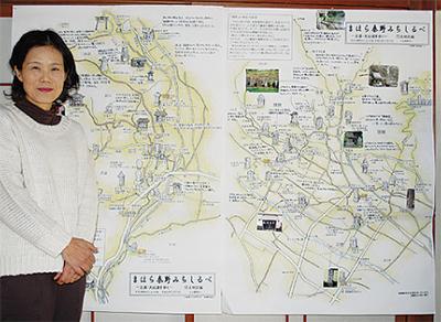 歴史を伝える地図が完成