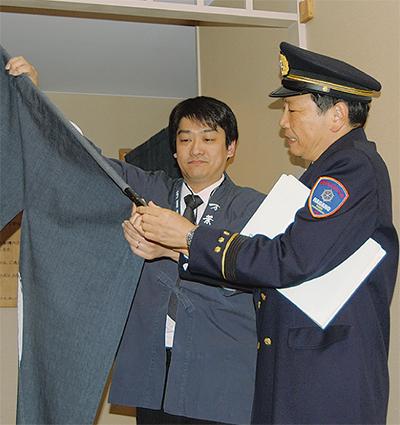 消防長が宿泊施設を査察