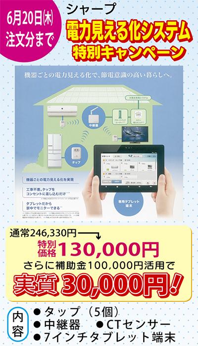 「電力見える化」実質3万円