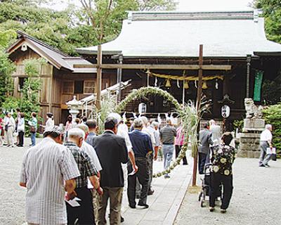 曾屋神社で夏越大祓