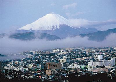 秦野から望む霊峰富士