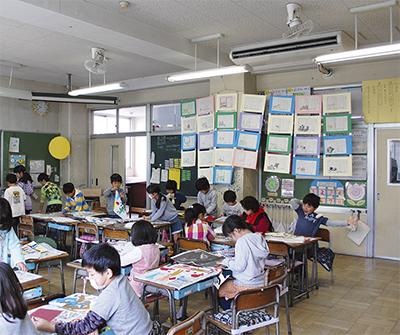 教室にエアコン設置完了