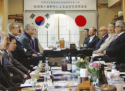 韓国総領事と昼食会