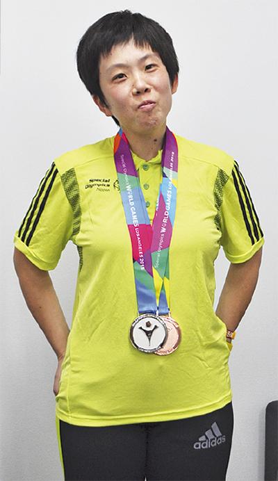 高橋絵美さんメダル獲得