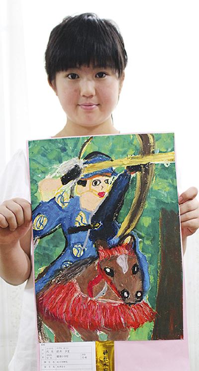 神社庁絵画展で最高賞