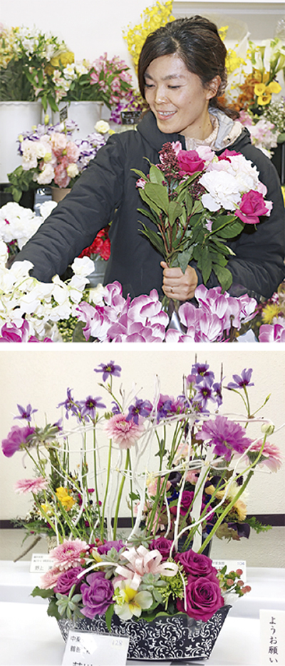 県花き展覧会で銀賞