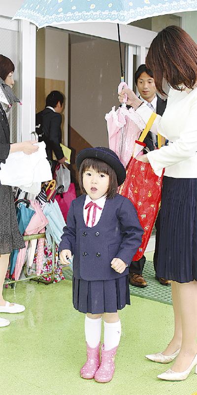 つるまき幼稚園で入園式