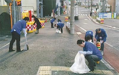 職員らが初の清掃活動