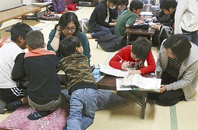 外国縁の子どもへ学習支援