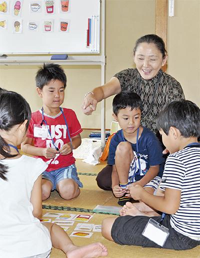 地域の子どもと英会話
