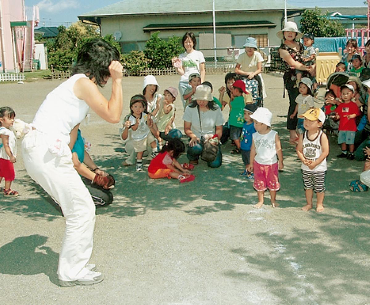 未就園児教室 参加者を歓迎