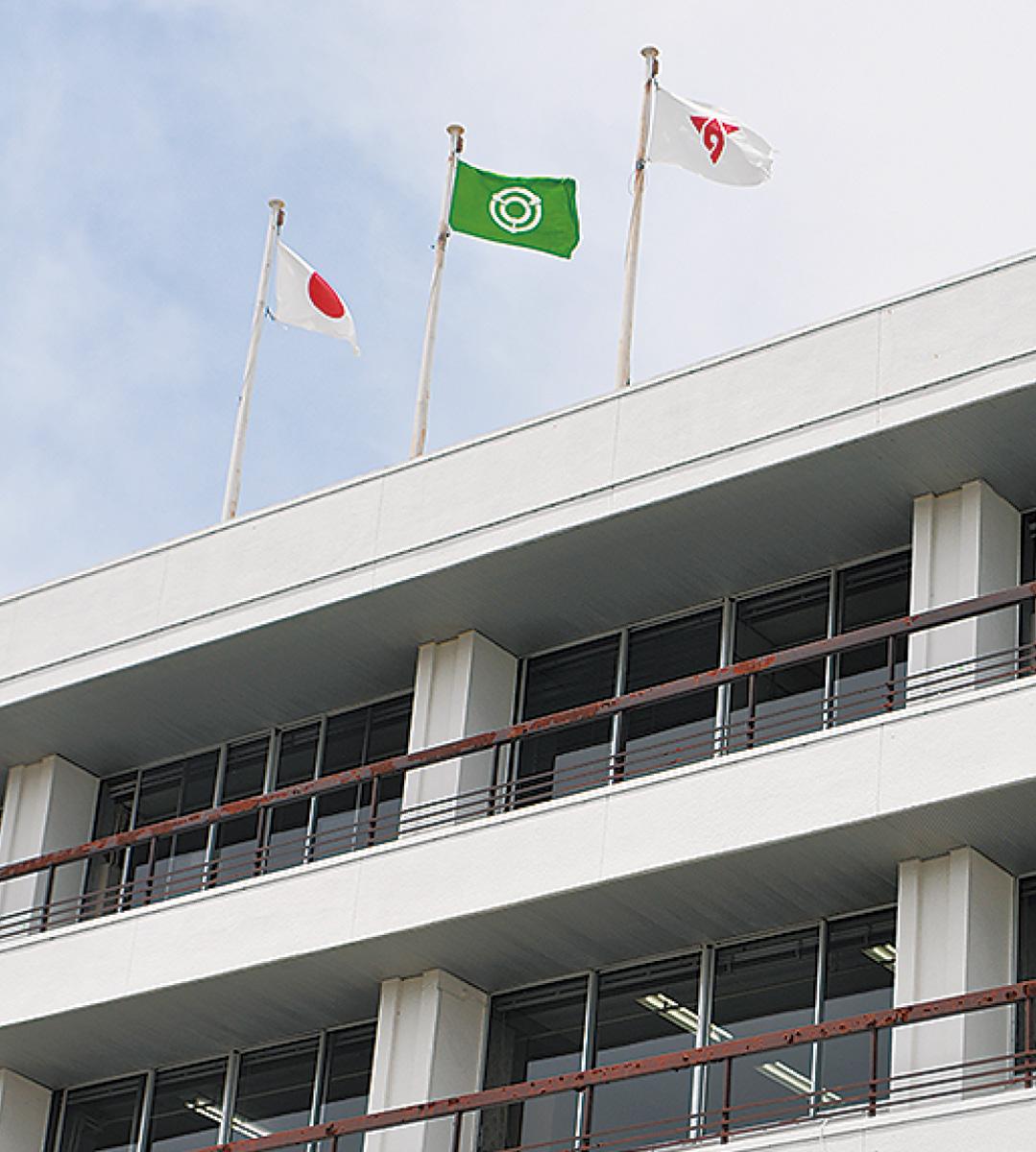 秦野市惜敗なびく関市の旗