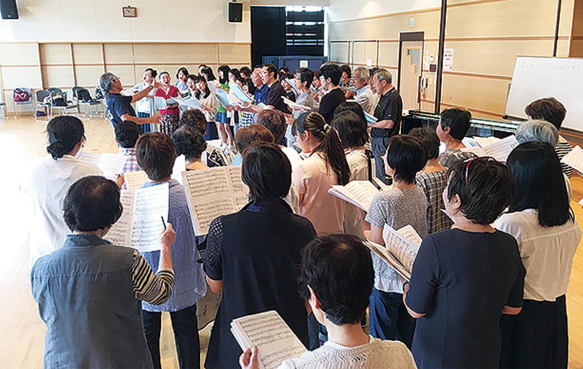 本番に向け合同合唱の練習