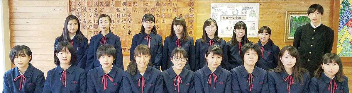 東中学校広報委員会のメンバー