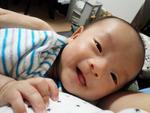 康喜ちゃん 2015年8月21日生まれ 男の子 秦野市 よく笑い、よく泣く元気な男の子です!