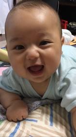 中里聖輝ちゃん 2017年3月16日生まれ 男の子 秦野市 寝返りを覚えたようでニコニコ!