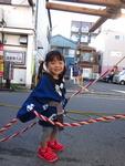 遠藤絢音ちゃん 横浜市南区 2016.7.23生 女の子 7月に2歳になりました!歌と可愛いものが大好きです。9歳の兄に負けじと逞しく成長中。一昨年の開催時には産まれたばかりだった若宮例大祭、今年は法被を着てお神輿に参加したよ♪